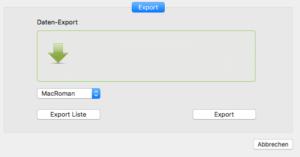 Adresse Akkordeon Export